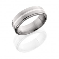 Lashbrook 7FGE11/SS SATIN-POLISH Titanium Wedding Ring or Band