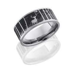 Lashbrook 9F/LCVELKMOUNTAIN SATIN Titanium Wedding Ring or Band
