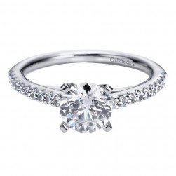 Gabriel 14 Karat Contemporary Engagement Ring ER4244W44JJ