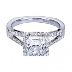 Gabriel 14 Karat Contemporary Engagement Ring ER6560W44JJ