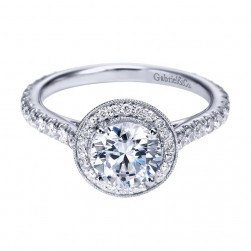 Gabriel 14 Karat Contemporary Engagement Ring ER6971W44JJ