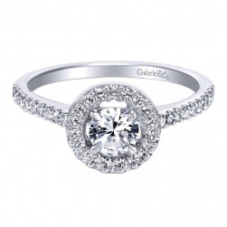 Gabriel 14 Karat Contemporary Engagement Ring ER95424W44JJ