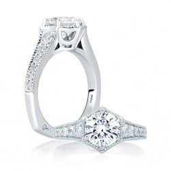 A.JAFFE 14 Karat Signature Engagement Ring MES646