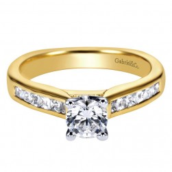 Gabriel 14 Karat Contemporary Engagement Ring ER3965M44JJ