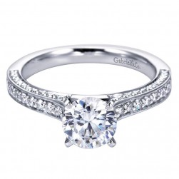 Gabriel 14 Karat Contemporary Engagement Ring ER6648W44JJ