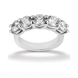 Diamond Five Stone Band Platinum Taryn Collection TQD B-0912-5