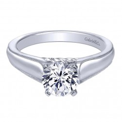 Gabriel 14 Karat Contemporary Engagement Ring ER10187W4JJJ