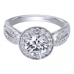 Gabriel 14 Karat Contemporary Engagement Ring ER10256W44JJ