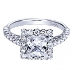 Gabriel 14 Karat Contemporary Engagement Ring ER6954W44JJ