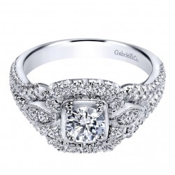 Gabriel 14 Karat Contemporary Engagement Ring ER910141W44JJ
