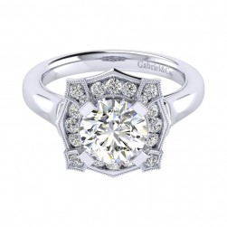 Gabriel 14 Karat Perfect Match Engagement Ring ER009C8ADW44JJ