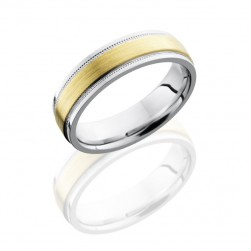 Lashbrook 14KW6FGEW2UMIL13C/14KY SATIN-POLISH Precious Metal Wedding Ring or Band