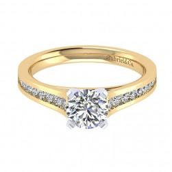 Gabriel 14 Karat Contemporary Engagement Ring ER8223M44JJ