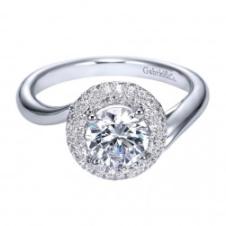 Gabriel 14 Karat Contemporary Engagement Ring ER8314W44JJ