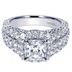 Gabriel 14 Karat Contemporary Engagement Ring ER8746W44JJ
