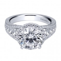 Gabriel 14 Karat Contemporary Engagement Ring ER8983R6W44JJ