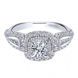 Gabriel 14 Karat Contemporary Engagement Ring ER911789R0W44JJ