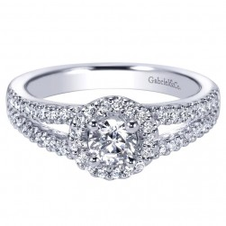 Gabriel 14 Karat Contemporary Engagement Ring ER95417W44JJ