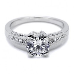 Tacori 18 Karat Simply Tacori Engagement Ring BA4190