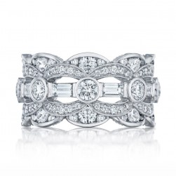 Tacori HT2618B 18 Karat RoyalT Diamond Wedding Ring