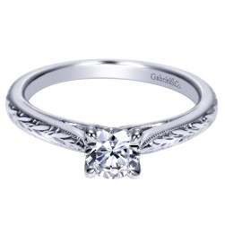 Gabriel 14 Karat Contemporary Engagement Ring ER8691W4JJJ
