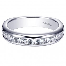 Gabriel 14 Karat Contemporary Wedding Band WB4186W44JJ