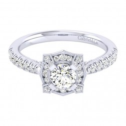 Gabriel 14 Karat Perfect Match Engagement Ring ER039A2ADW44JJ