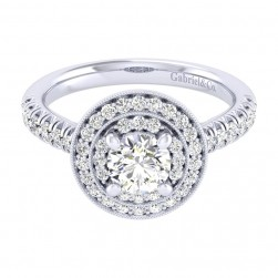 Gabriel 14 Karat Perfect Match Engagement Ring ER039B3AHW44JJ