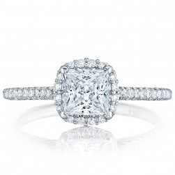 HT254715PR55 Platinum Tacori Petite Crescent Engagement Ring