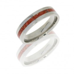 Lashbrook 6F12/CORAL POLISH Titanium Wedding Ring or Band
