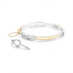 SB191Y-M Tacori Promise Bracelet Oval Yellow Gold and Silver