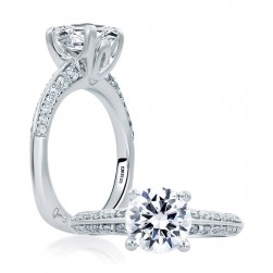 A.JAFFE 14 Karat Signature Engagement Ring MES669