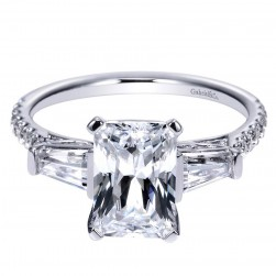 Gabriel 14 Karat Contemporary Engagement Ring ER9047W44JJ