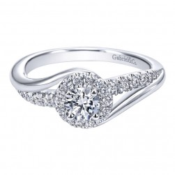 Gabriel 14 Karat Contemporary Engagement Ring ER910068W44JJ