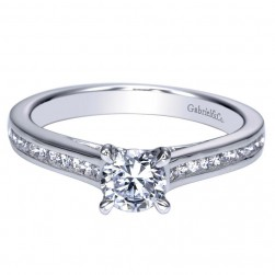 Gabriel 14 Karat Contemporary Engagement Ring ER98677W44JJ