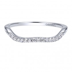 Gabriel 14 Karat Contemporary Wedding Band WB911501R0W44JJ