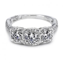 Simply Tacori Platinum Diamond Engagement Ring 2572