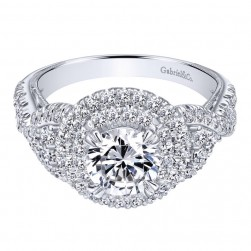 Gabriel 14 Karat Contemporary Engagement Ring ER10750W44JJ