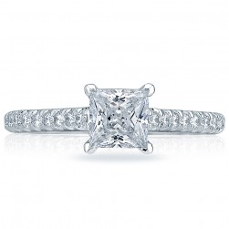 HT2546PR55 Platinum Tacori Classic Crescent Engagement Ring