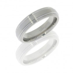 Lashbrook 6REF SATIN-POLISH Titanium Wedding Ring or Band