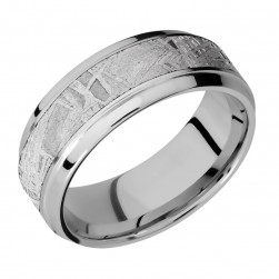 Lashbrook 8B15(S)/METEORITE Titanium Wedding Ring or Band