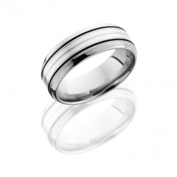 Lashbrook 8B21A-SS Satin-Polish Titanium Wedding Ring or Band