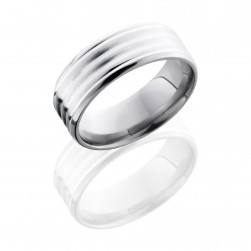 Lashbrook 8BDDD16-SS Satin-Polish Titanium Wedding Ring or Band