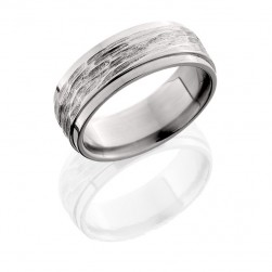Lashbrook 8FGE TBH-POLISH Titanium Wedding Ring or Band