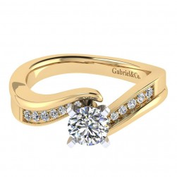 Gabriel 14 Karat Contemporary Engagement Ring ER6069M44JJ