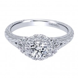 Gabriel 14 Karat Contemporary Engagement Ring ER910218W44JJ