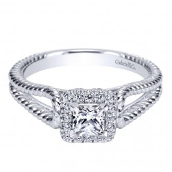Gabriel 14 Karat Contemporary Engagement Ring ER98562W44JJ