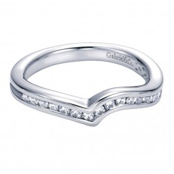 Gabriel 14 Karat Contemporary Wedding Band WB6049W44JJ