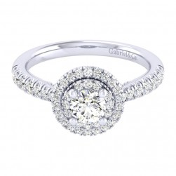 Gabriel 14 Karat Perfect Match Engagement Ring ER039A2AIW44JJ