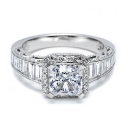 Tacori Crescent Platinum Engagement Ring HT2531PR12